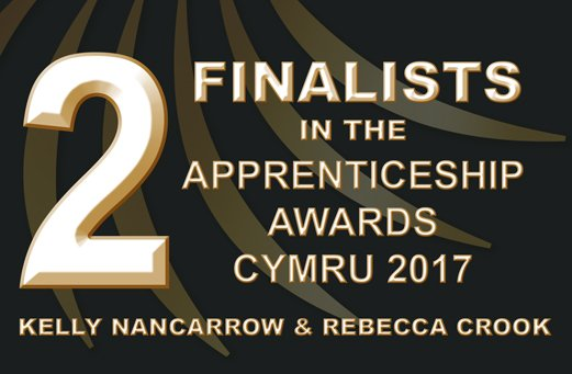 Two finalists in the Apprenticeship Awards Cymru 2017